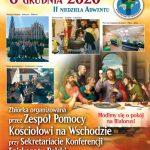 Ogłoszenia parafialne II Niedziela Adwentu, Rok  B, (06.12.2020)